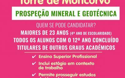 Curso de Técnico Superior Profissional de Prospeção Mineral e Geotécnica